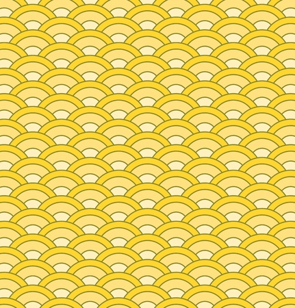日本の波シームレス パターン ベクトル