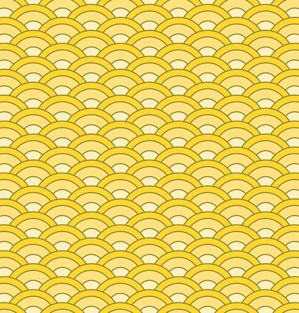 Vector japanese waves seamless pattern
