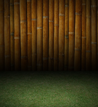 Bamboo and grass background texture 免版税图像