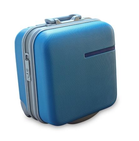 白い背景で隔離のスーツケース 写真素材
