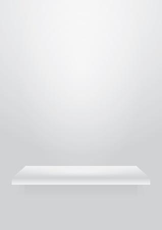 shelve: Empty white shelve for exhibit