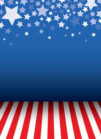 愛国心: 星の装飾的な背景と床