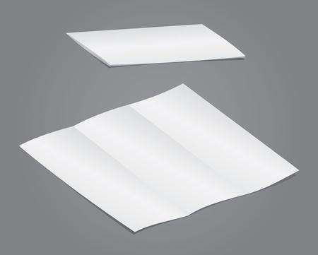 Blank folding advertising for designers Stock Vector - 9621748