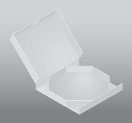 ピザ用の空白の梱包箱  イラスト・ベクター素材