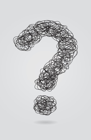 Question mark created from lines Stock Vector - 9623086