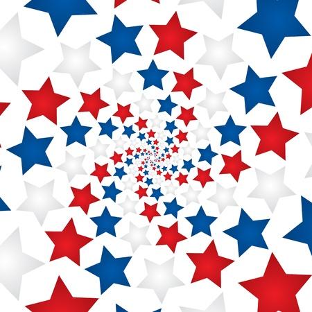 白い背景の上の星の円形パターン
