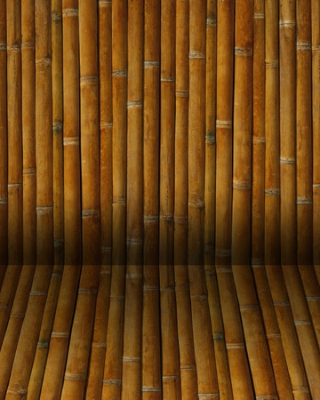 Close-up bamboo background texture with columns photo