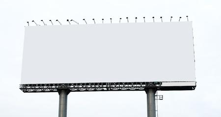 Blank billboard on white background Stock Photo - 9623083