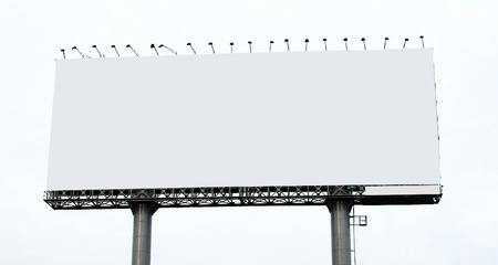 Blank billboard on white background Stock Photo - 9623083