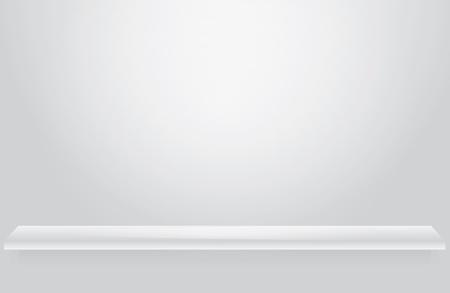 Empty white shelve for exhibit Stock Vector - 9716857