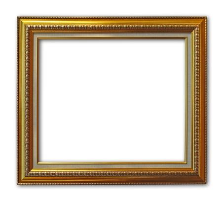A rectangular wooden picture frame Banco de Imagens