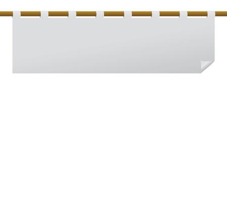 白紙の横断幕旗デザイナーのため  イラスト・ベクター素材