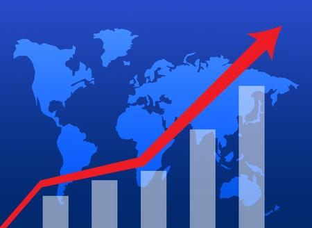 Business graph success chart data Stock Photo - 9743686