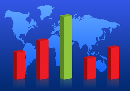 Business graph success chart data Stock Photo - 9743699