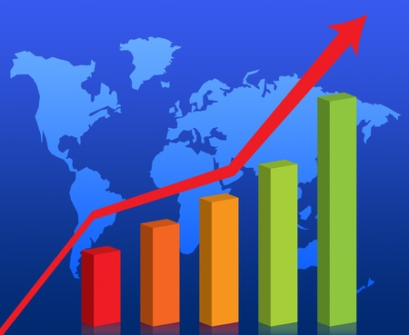 Business graph success chart data Stock Photo - 9743700