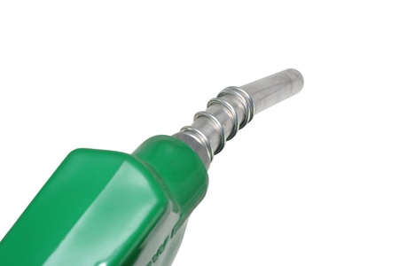Refueling hose on white background photo