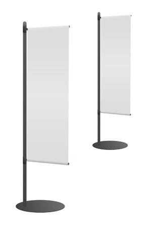 Blank banner flag for designers Stock Vector - 9932870