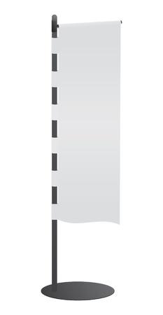 白紙の横断幕デザイナーのための日本の旗  イラスト・ベクター素材