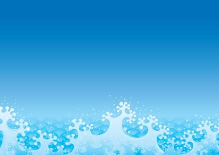 海色のタイ シームレスな波パターン