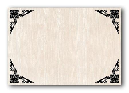 Thai art frame on paper Stock Photo - 11022579