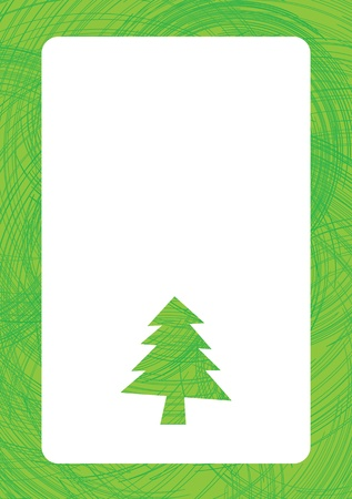 Greeting for text with christmas tree background Stock Vector - 11120365
