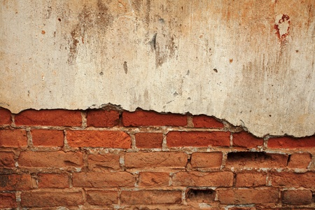ruinous: Background cracked concrete brick wall