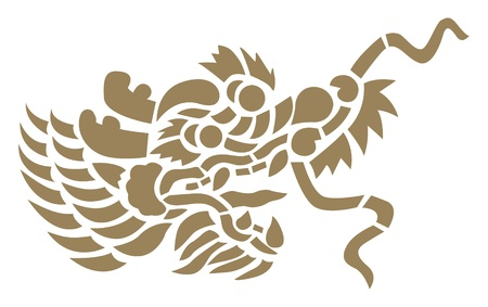 chinese new year dragon: Head dragon, Vector design element