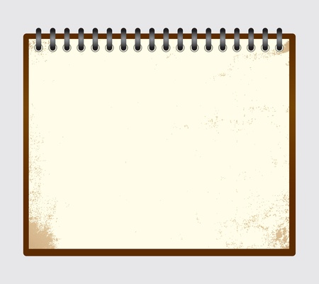 Vintage note pad with spiral Vector