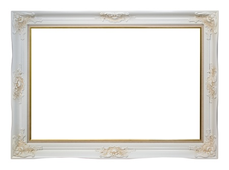 filagree: Empty vintage frame on white background