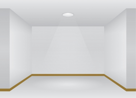 retail display: Interior with lights and empty