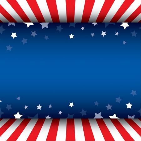 愛国心: 星の装飾的なフレームの背景  イラスト・ベクター素材