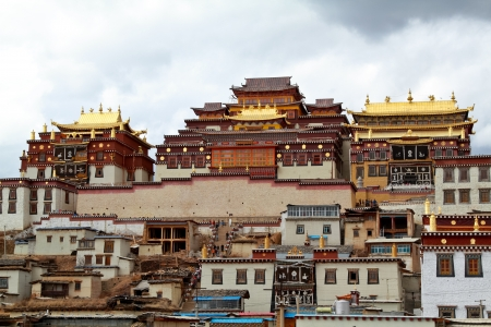 Songzanlin Si, Garden Sumtseling Gompa Temple, China photo