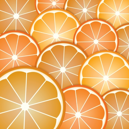 Abstract with pattern oranges slices from background Vector