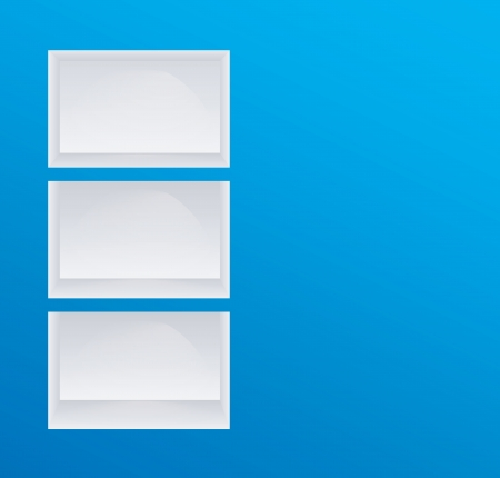 Empty blue shelves and space for text Vector