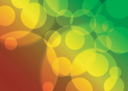 Abstract bokeh with red yellow green background Vector