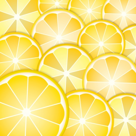 Abstract with pattern lemons slices from background Vector