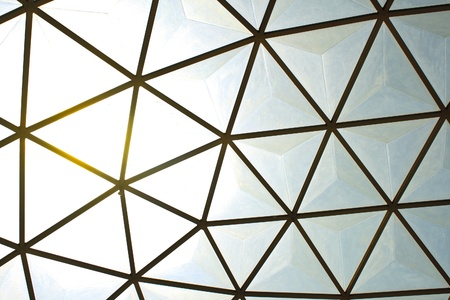 Geometric glass structure of ceiling dome Stock Photo - 15372950