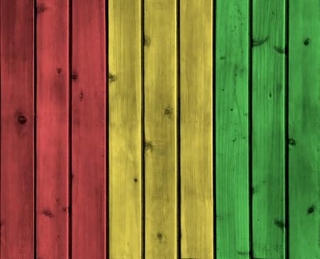 レゲエの色で背景木板のテクスチャ
