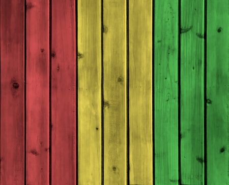 ligneous: Background wood board texture with reggae color Stock Photo