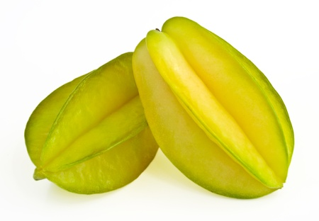 Star fruit or Carambola on white background