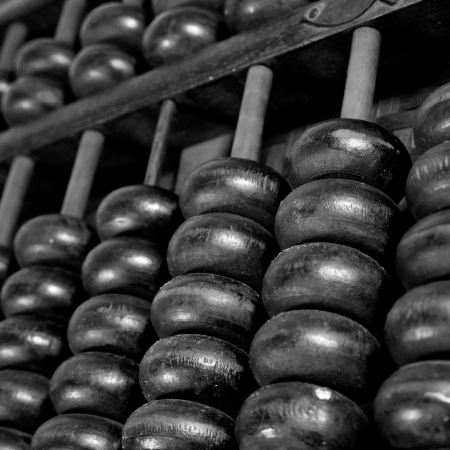 abaci: Old wooden abacus
