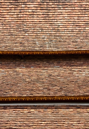 Traditional tiles roof Asia style photo