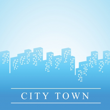Modern city silhouette with space for text Vector