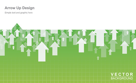 Business and finance form design arrow up
