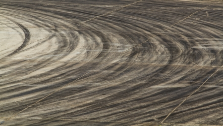 bolid: tire marks on road track