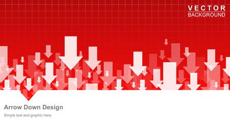 ビジネスと金融のフォーム デザイン矢印ダウン