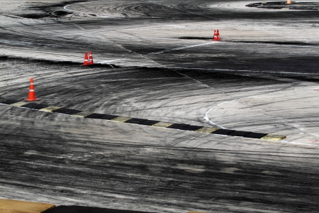 tire marks: tire marks on road track
