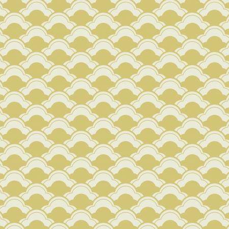 日本の波とシームレスなパターン  イラスト・ベクター素材