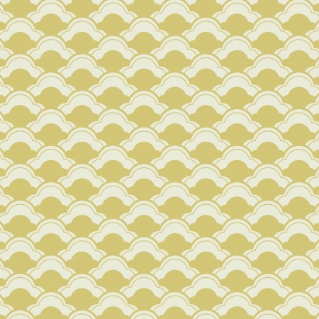 Japanese waves seamless pattern with