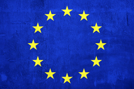 wall paint: Cement wall paint Euro flag for background
